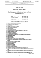 Health and Safety at Work Regulations 1999